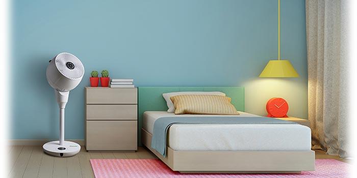 MeacoFan 1056P ventiliatorius miegamojo kambaryje