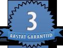3 aastat garantii